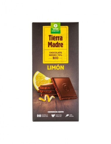 TABLETA CHOCOLATE NEGRO 70% LIMON BIO