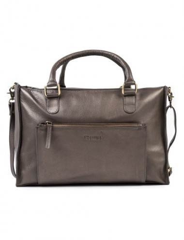 BOLSO PIEL COURIER COLOR METAL