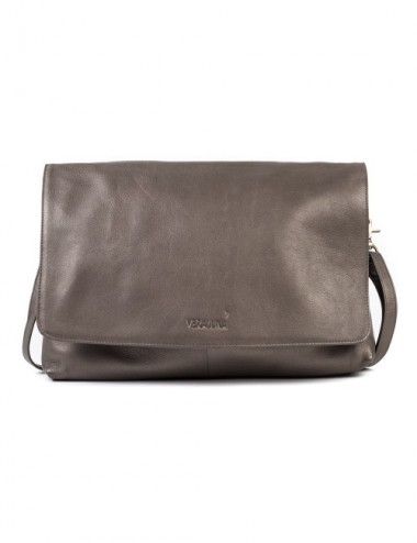 BOLSO PIEL COAT COLOR METAL
