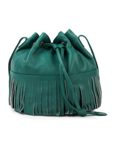 BOLSO PIEL BUCKET COLOR OCEAN