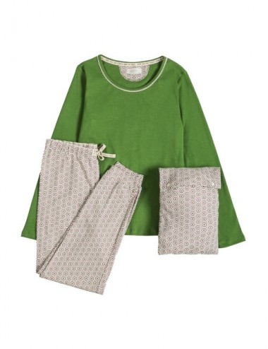 PIJAMA ORGANIC GAMMA GREEN HEXAGON XXL