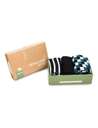 VERALUNA SOCKS GIFTBOX BLUE PRINTS 37-41
