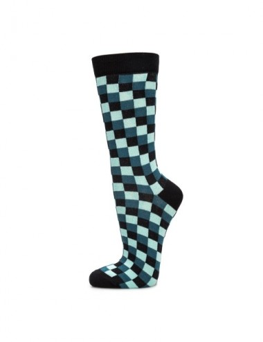 VERALUNA SOCKS BLUE PRINT CHECKS 37-41