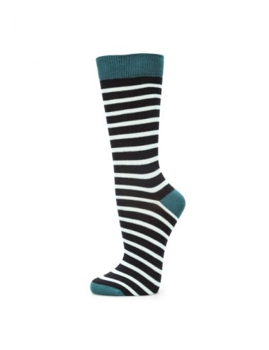 VERALUNA SOCKS BLUE PRINT STRIPES 41-45