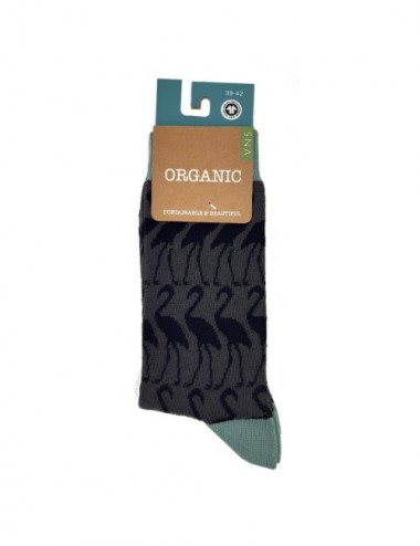CALCETINES WOMAN AL ORG FLAMG GREY 35-38