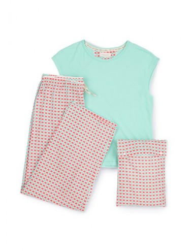PIJAMA ORGANIC LAWU SEA RED SCALES S