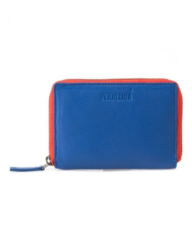 CARTERA PIEL HEXAGON COLOR MARINA REEF