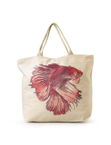 BOLSA PLAYA KUNYIT RED SCALES 50X40