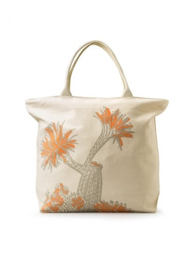 BOLSA PLAYA KUNYIT GREEN PALM 50X40
