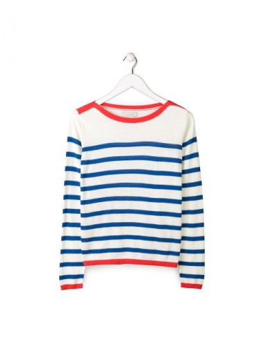 JERSEY ORGANIC HANA BLUE STRIPES L