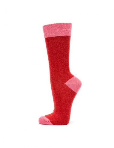 VERALUNA SOCKS PINK RED PLAIN 35-38