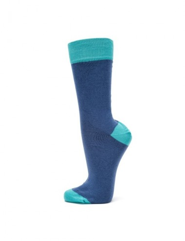 VERALUNA SOCKS BLUE PLAIN 39-42