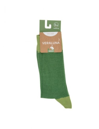 VERALUNA SOCKS GREEN PLAIN 35-38