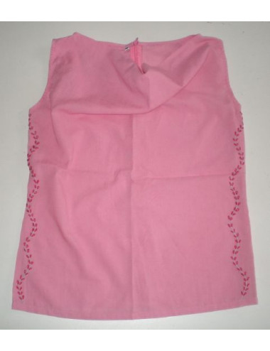 TOP BORDADO ROSA T40