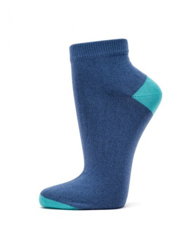 VERALUNA SOCKS BLUE PLAIN ANKLE 39-42
