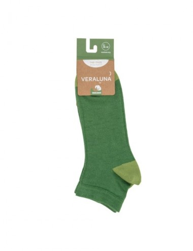 VERALUNA SOCKS GREEN PLAIN ANKLE 35-38