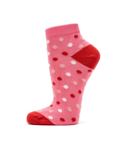 VERALUNA SOCKS PINK DOTS ANKLE 39-42