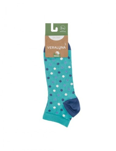 VERALUNA SOCKS BLUE DOTS ANKLE 35-38
