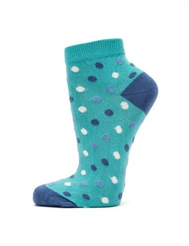 VERALUNA SOCKS BLUE DOTS ANKLE 39-42