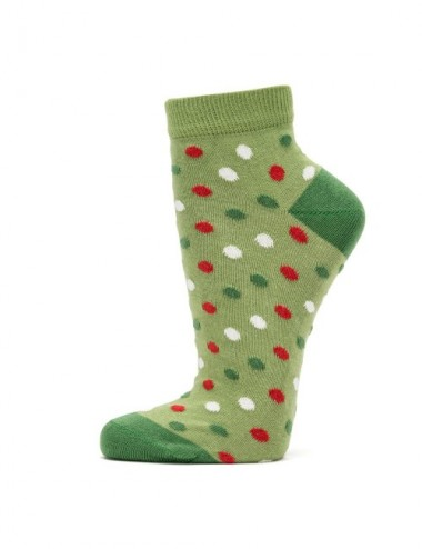 VERALUNA SOCKS GREEN DOTS ANKLE 39-42