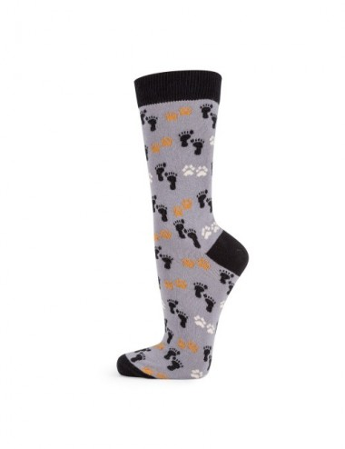 VERALUNA SOCKS FOOTPRINTS GREY 35-38