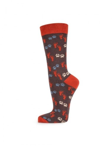 VERALUNA SOCKS FOOTPRINTS COCOA 35-38
