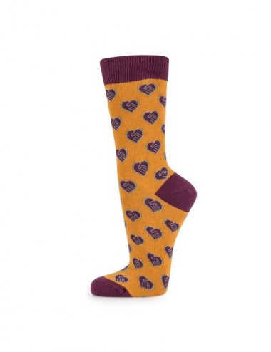 VERALUNA SOCKS HEARTS YELLOW 35-38