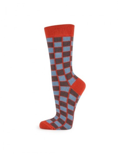 VERALUNA SOCKS CHECKS BLUE 35-38