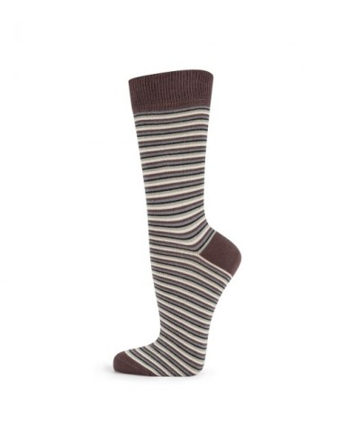 VERALUNA SOCKS STRIPES GREY 35-38