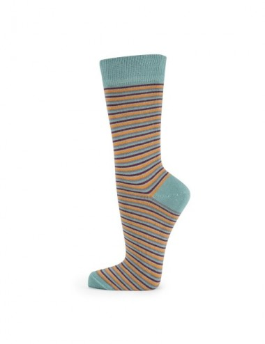 VERALUNA SOCKS STRIPES GREEN 35-38