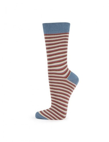 VERALUNA SOCKS STRIPES BLUE 35-38