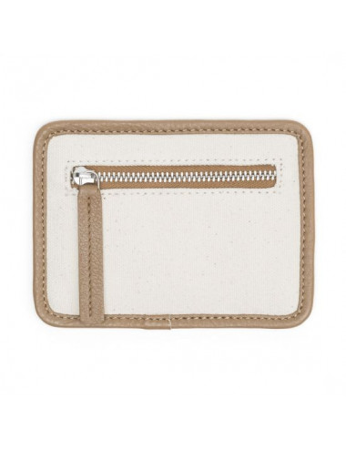 MONEDERO CANVAS-PIEL NATURAL